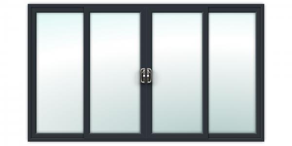 12ft Anthracite Grey uPVC Sliding Patio Doors