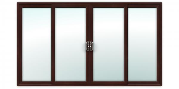 12ft Rosewood uPVC Sliding Patio Doors