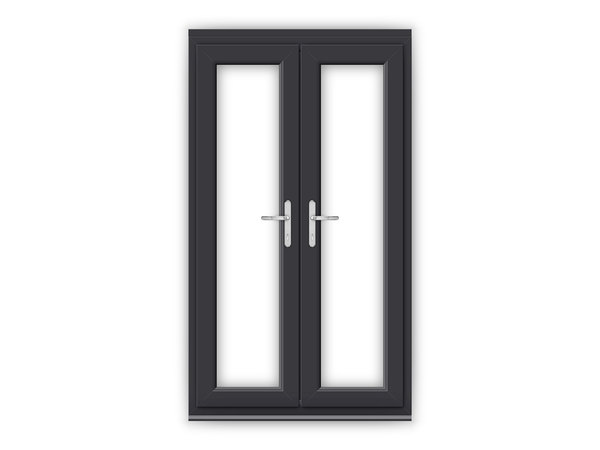 Anthracite grey upvc french doors flying doors for Upvc french doors 4ft
