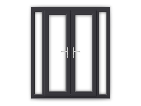Anthracite grey upvc french doors flying doors for Upvc french doors 1790 x 2090mm