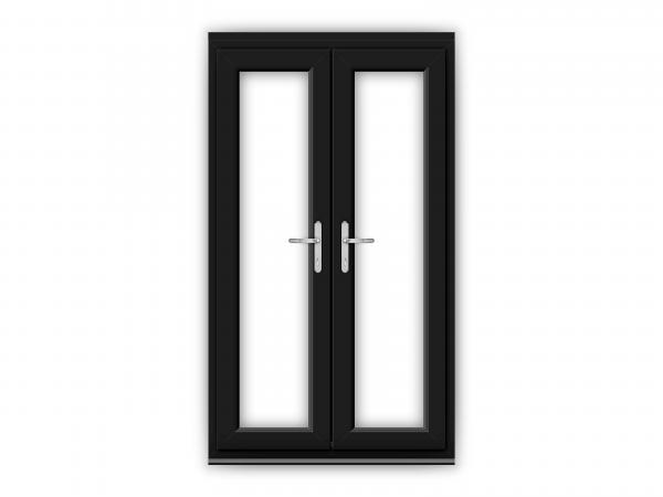 4ft Black uPVC French Doors