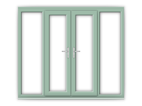 Chartwell green upvc french doors flying doors for 4 ft wide french doors
