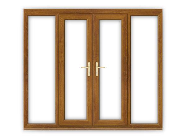 Golden oak upvc french doors flying doors for 4 ft wide french doors