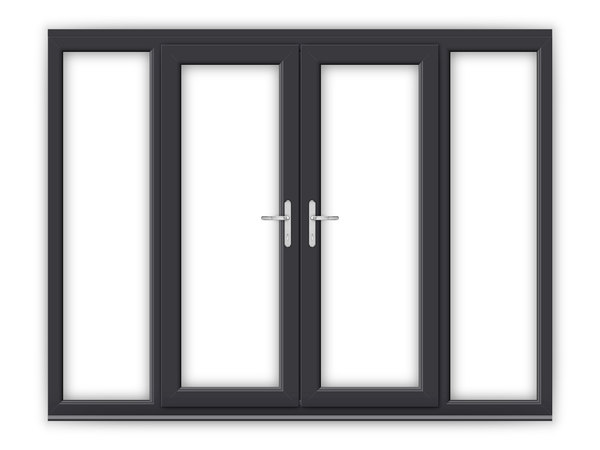 Anthracite grey upvc french doors flying doors for 4ft french doors exterior