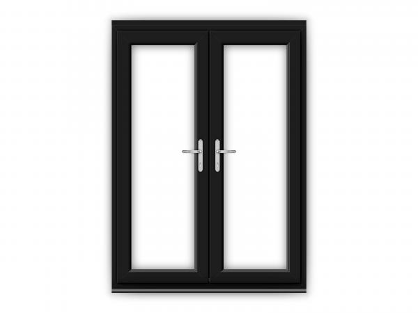 5ft Black uPVC French Doors