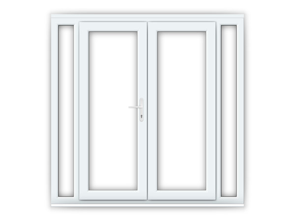 5ft uPVC French Doors with Narrow Side Panels