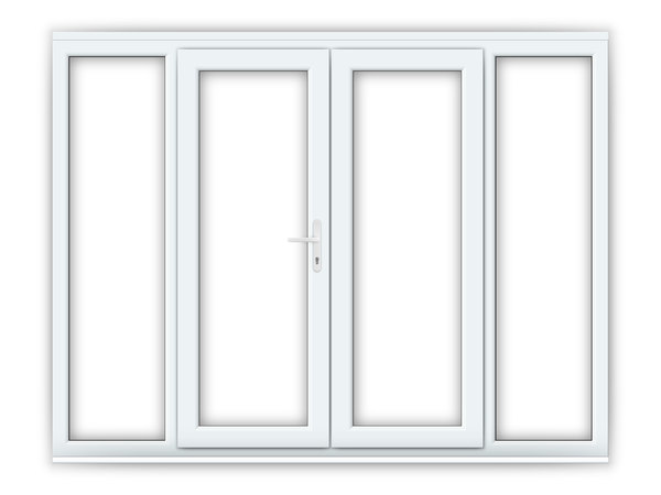 5ft uPVC French Doors with Wide Side Panels