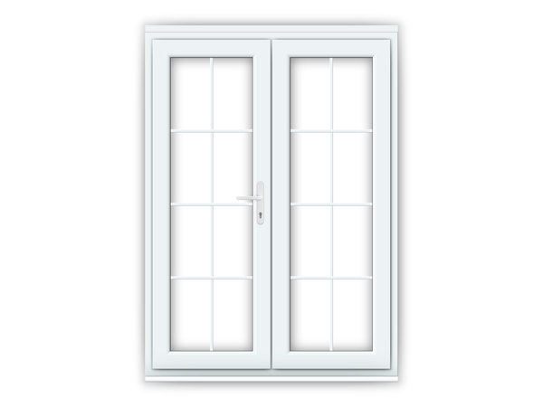 White uPVC Georgian French Doors