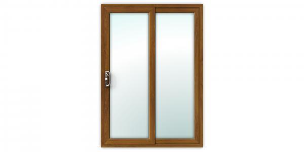 5ft Golden Oak uPVC Sliding Patio Doors