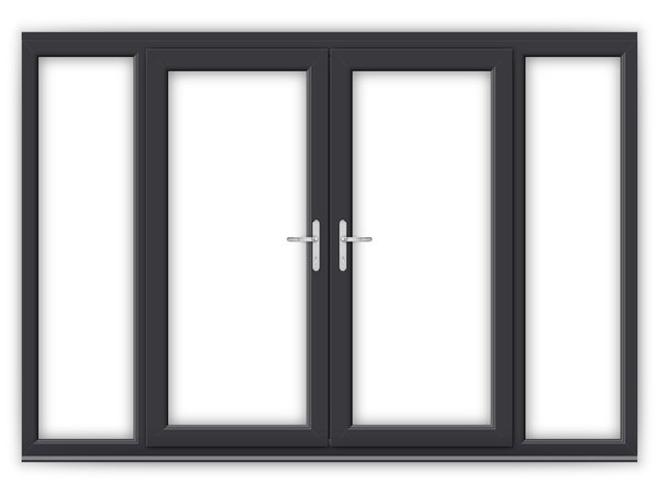 Anthracite grey upvc french doors flying doors for 6 ft wide french doors