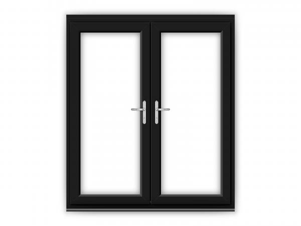 6ft Black uPVC French Doors