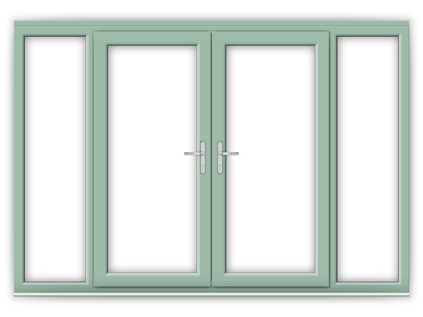 Chartwell green upvc french doors flying doors for 6 ft wide french doors