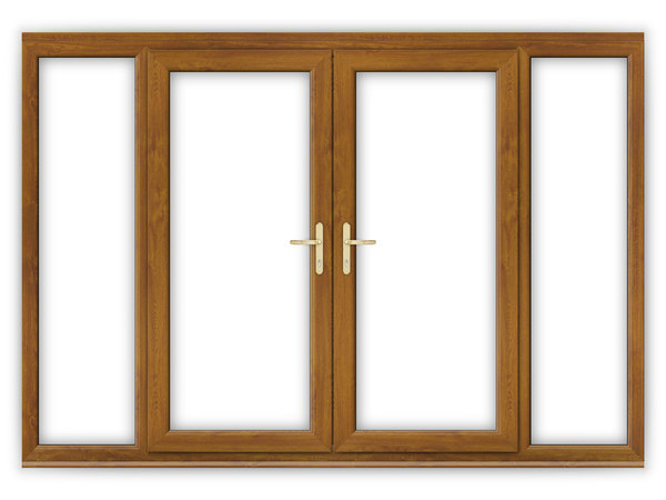 Golden oak upvc french doors flying doors for 6 ft wide french doors