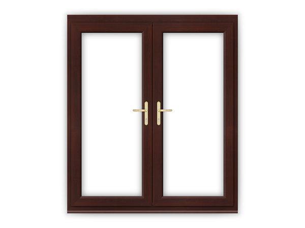 6ft Rosewood uPVC French Doors