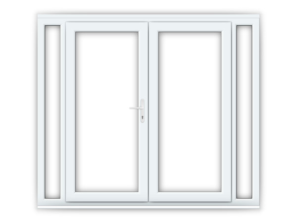 6ft uPVC French Doors with Narrow Side Panels