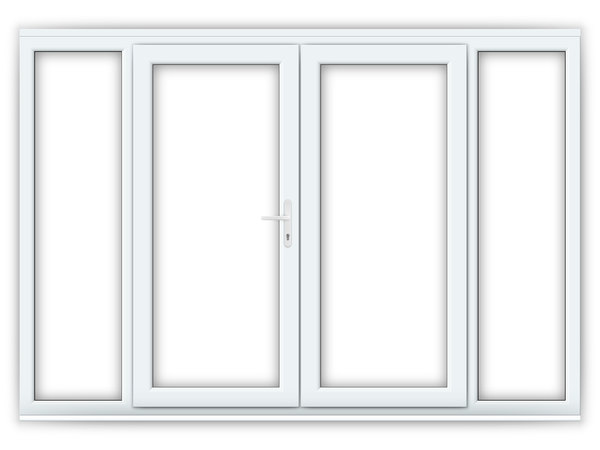 6ft uPVC French Doors with Wide Side Panels
