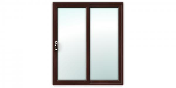6ft Rosewood uPVC Sliding Patio Doors
