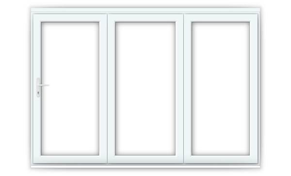 10ft White uPVC Bifold Doors