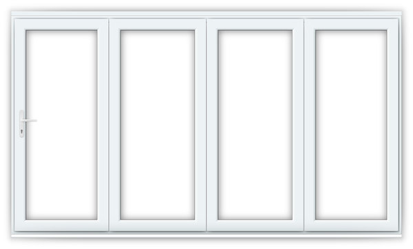 12ft White uPVC Bifold Doors