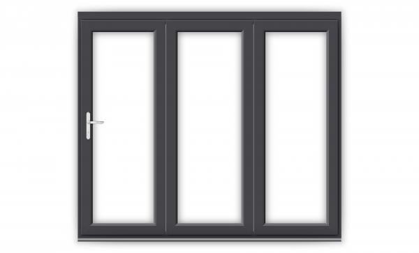 8ft Anthracite Grey uPVC Bifold Doors