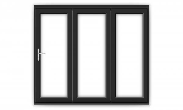 8ft Black uPVC Bifold Doors