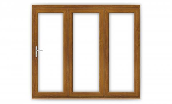 8ft Golden Oak uPVC Bifold Doors