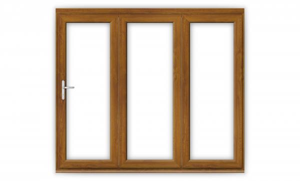 Golden Oak uPVC Bifold Doors