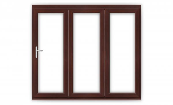 8ft Rosewood uPVC Bifold Doors