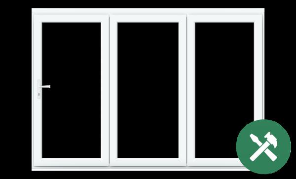 Custom White uPVC Bifold Door Set
