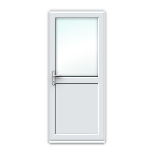 Half Glass uPVC Back Door