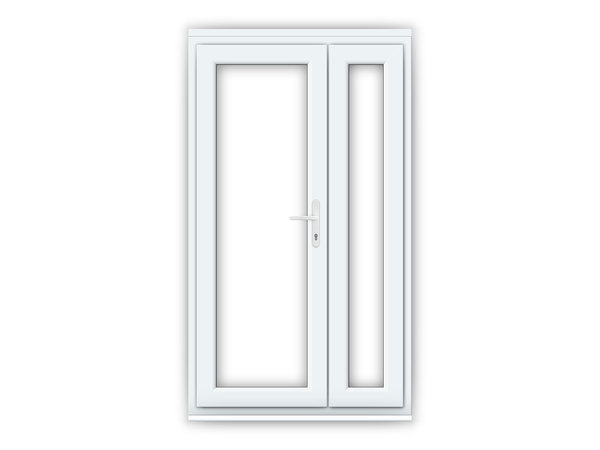 White upvc french doors flying doors for Upvc french doors
