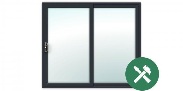 Custom Anthracite Grey uPVC Sliding Patio Door Set