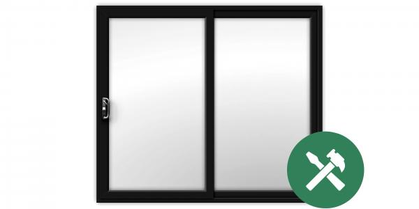 Custom Black uPVC Sliding Patio Door Set