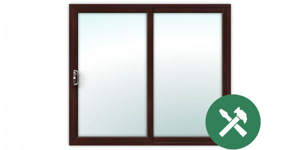 Custom Rosewood uPVC Sliding Patio Door Set