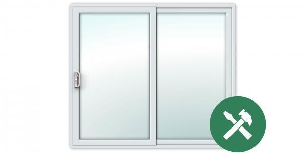 Custom White uPVC Sliding Patio Door Set