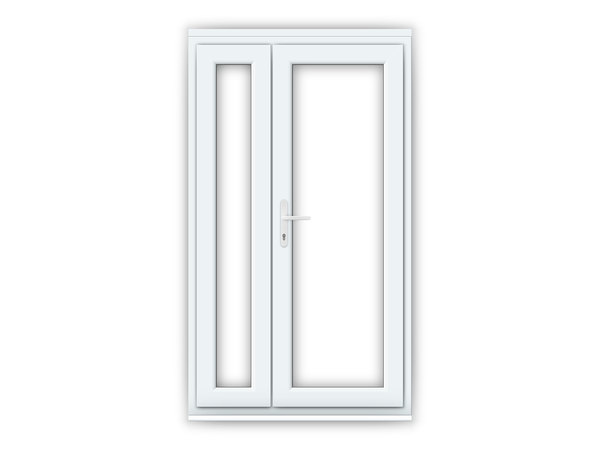 RH uPVC Offset French Doors