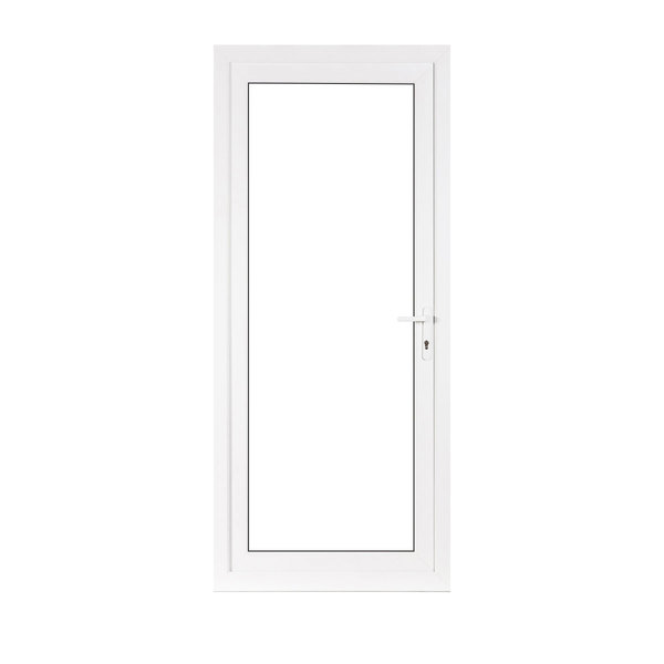 Upvc front and back doors flying doors for Back door with glass panels