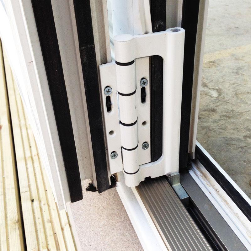 6ft white upvc bifold folding door set flying doors for Upvc french door hinges