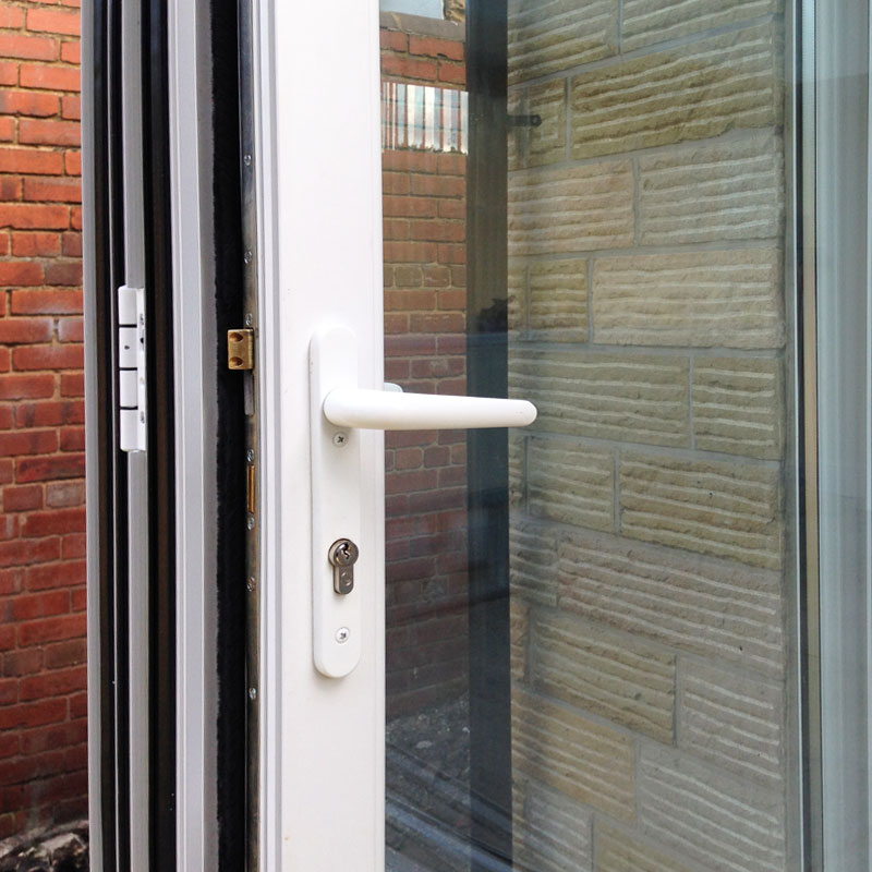 8ft White uPVC Bifold Door Set