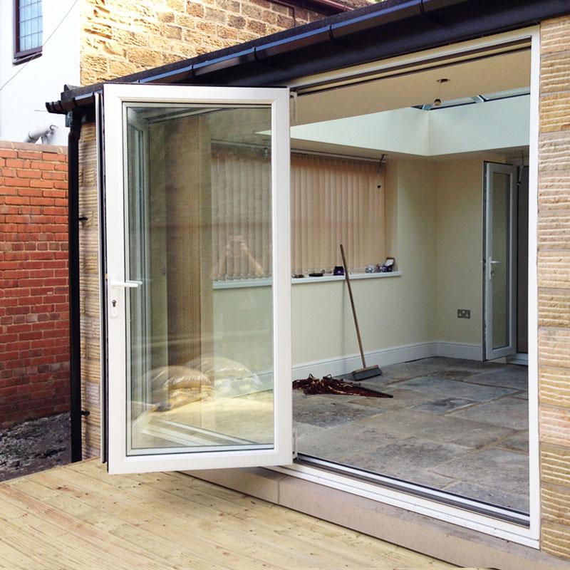 6ft white upvc bifold folding door set flying doors for Bifold patio doors uk