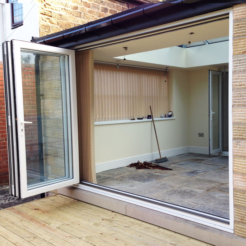 6ft white upvc bifold folding door set flying doors for 8ft french doors