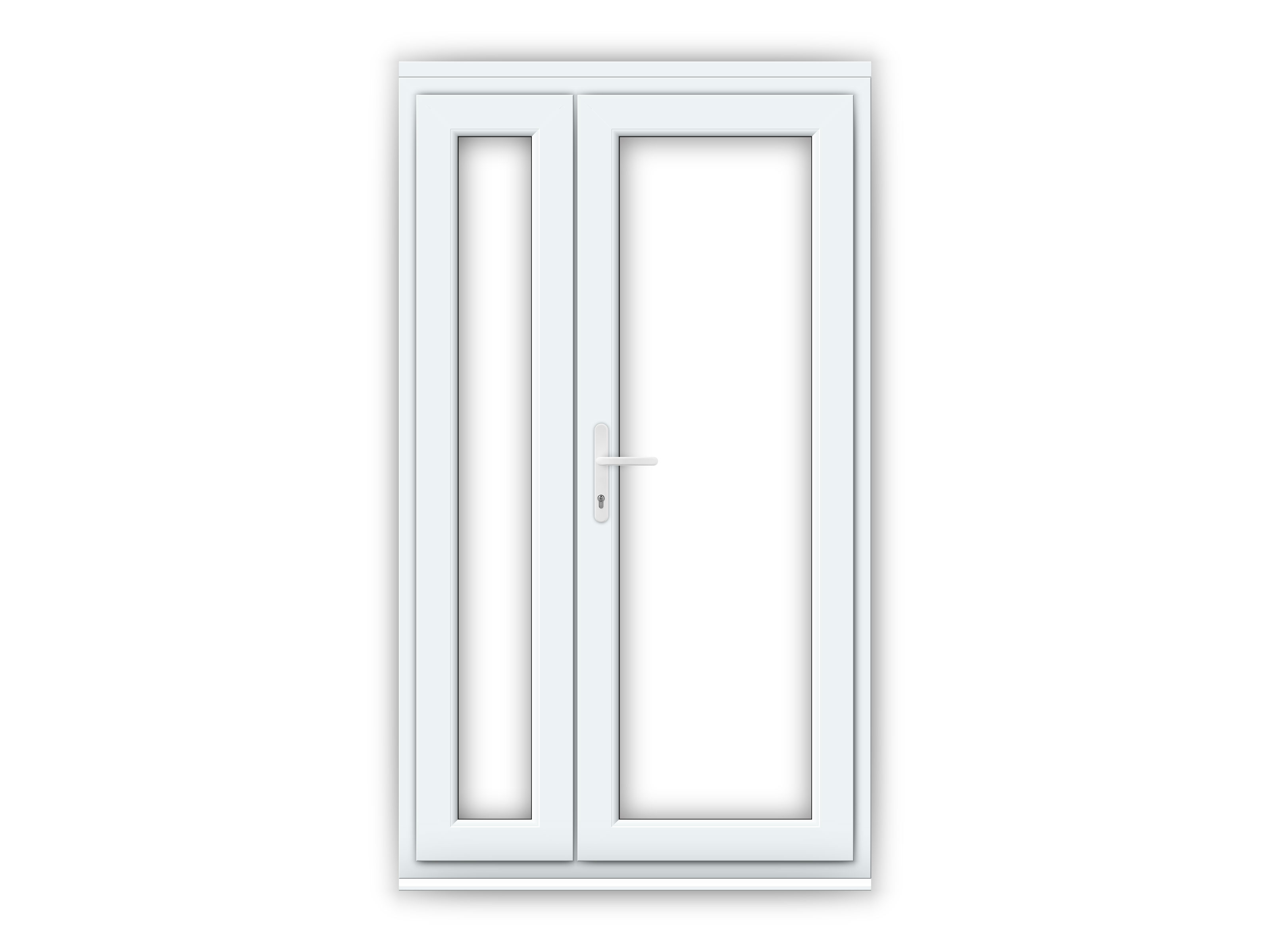 rh offset upvc french doors flying doors