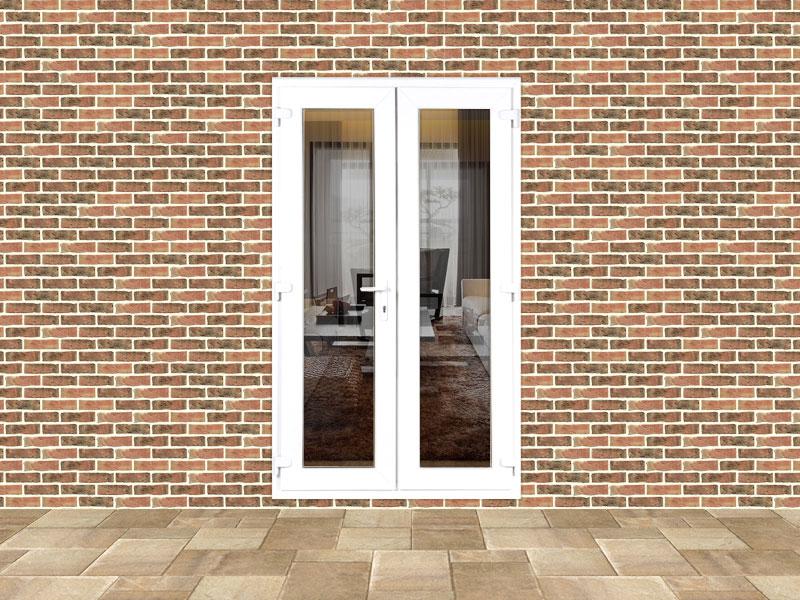 5ft upvc door set with chrome handles flying doors for Upvc french door handles