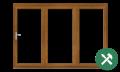Custom Golden Oak uPVC Bifold Door Set