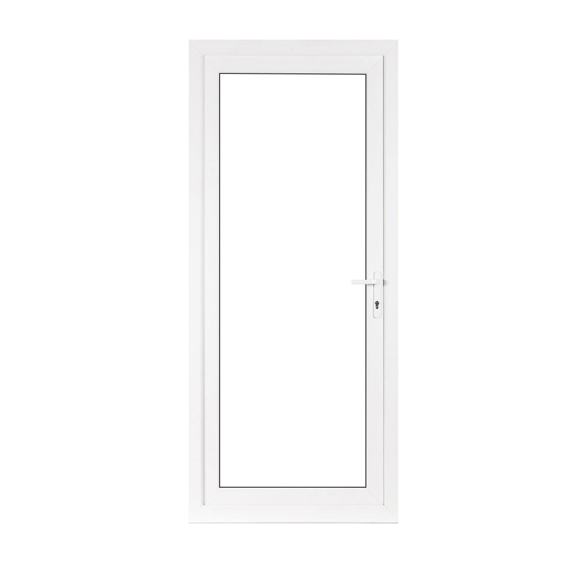 Small Full Glass uPVC Back Door