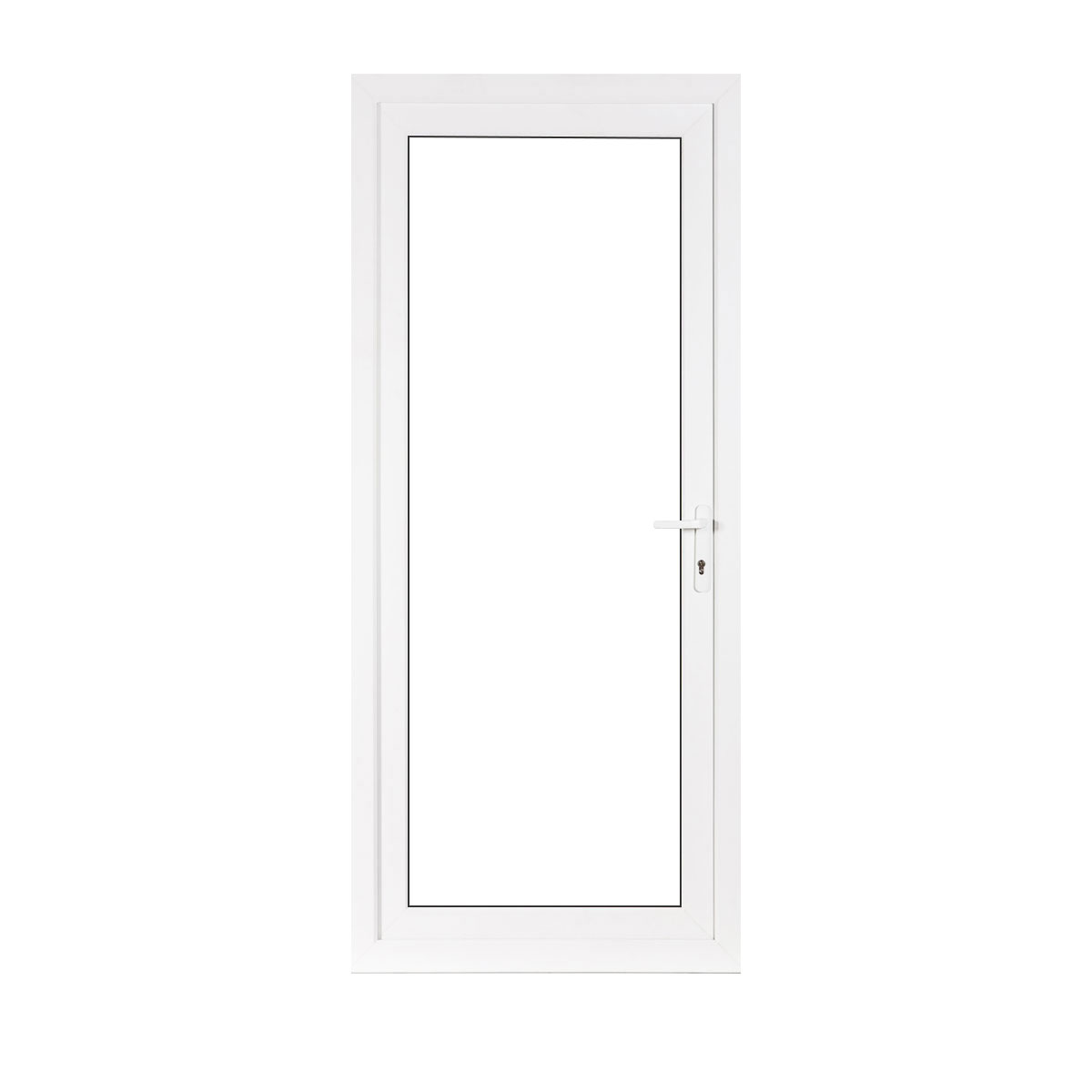 Full glass upvc back door flying doors for Upvc glass front doors