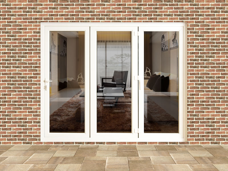 8ft upvc folding door set flying doors for Upvc balcony doors