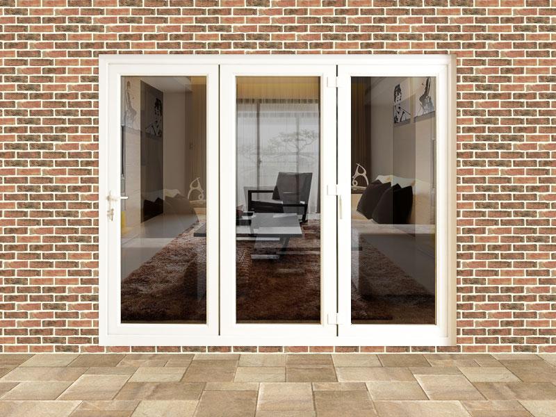 8ft upvc folding door set flying doors for Folding french patio doors