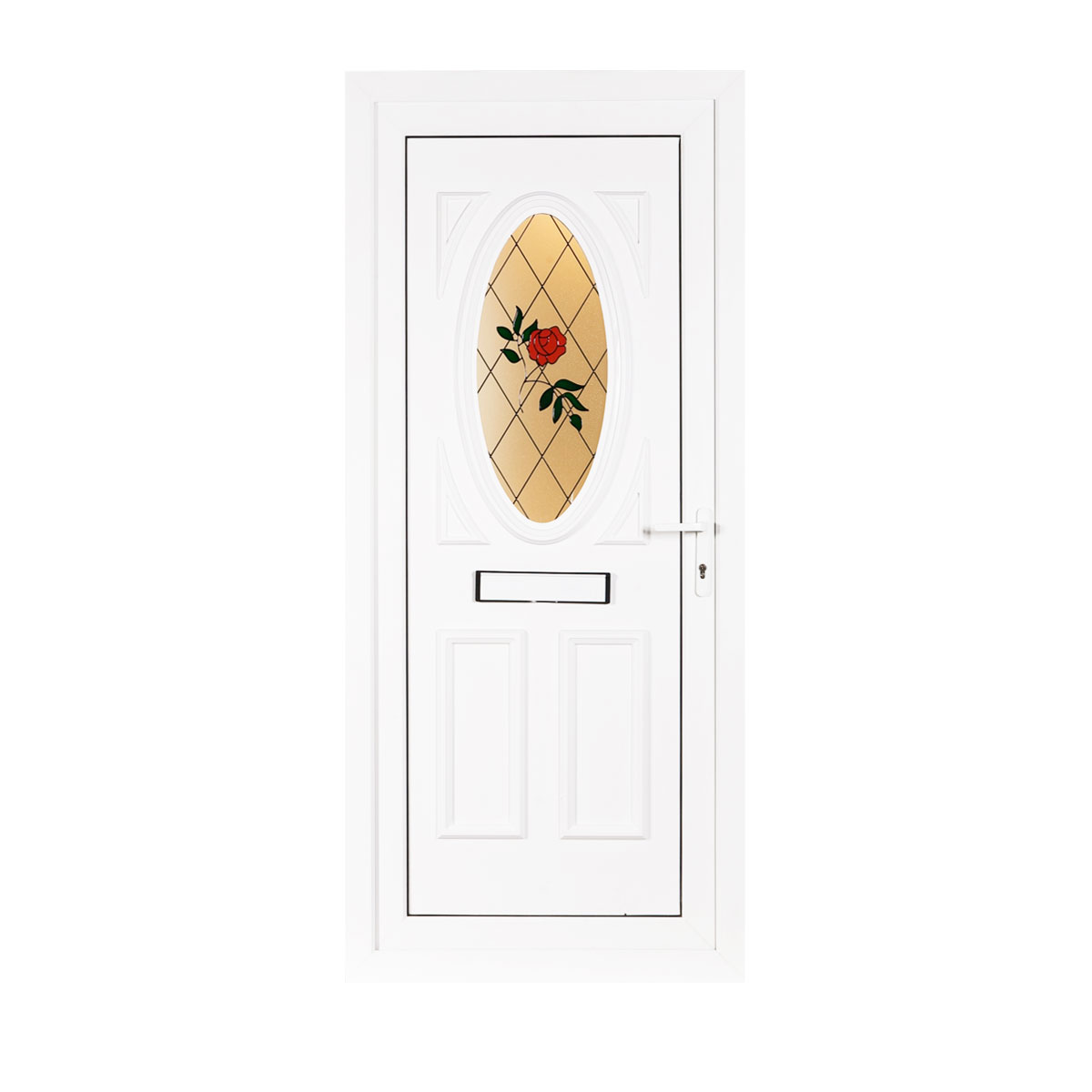 Hepburn upvc front door left hand hung flying doors for Front and back doors
