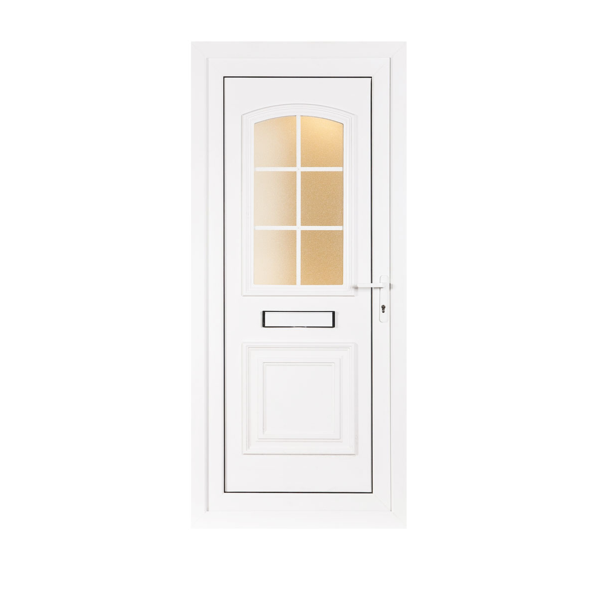 Maulden upvc front door left hand hung flying doors for Upvc front doors